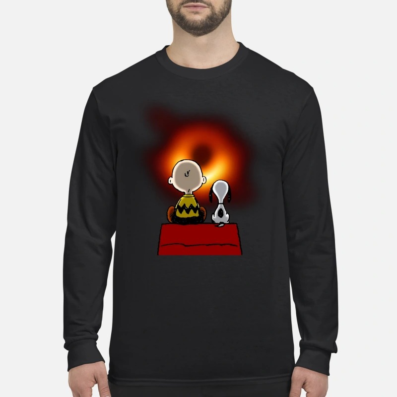 Snoopy and Charlie Brown Black Hole men's long sleeved shirt