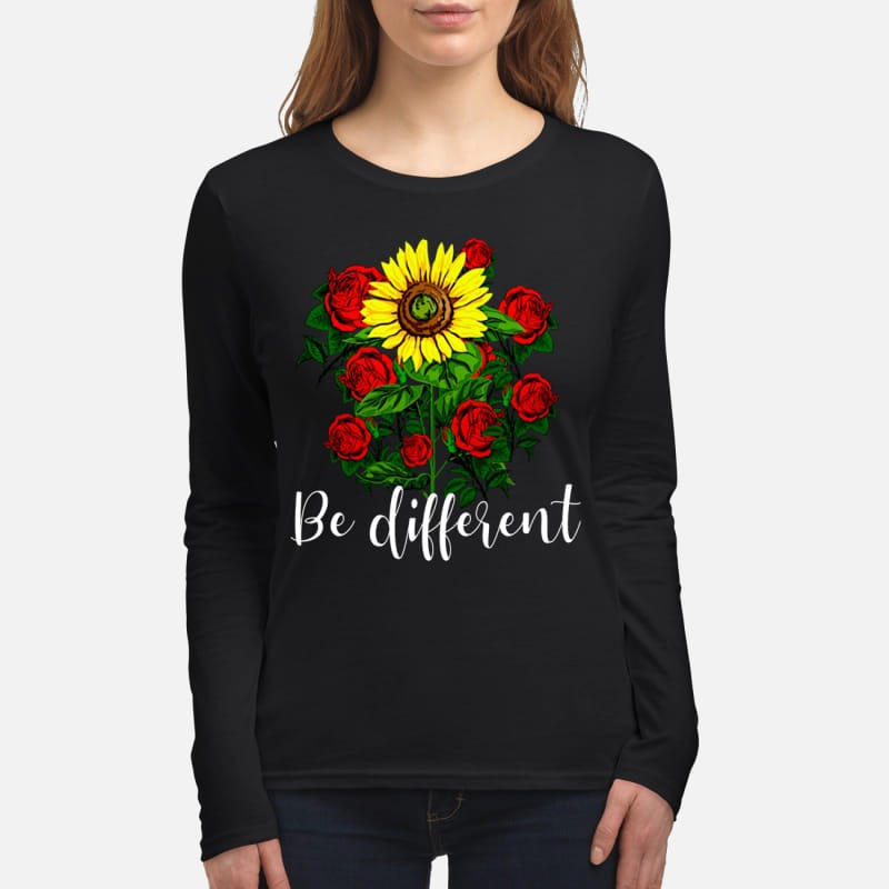 Sunflower and rose be different women's long sleeved shirt