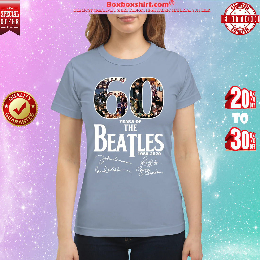 The Beatles 60 years classic shirt