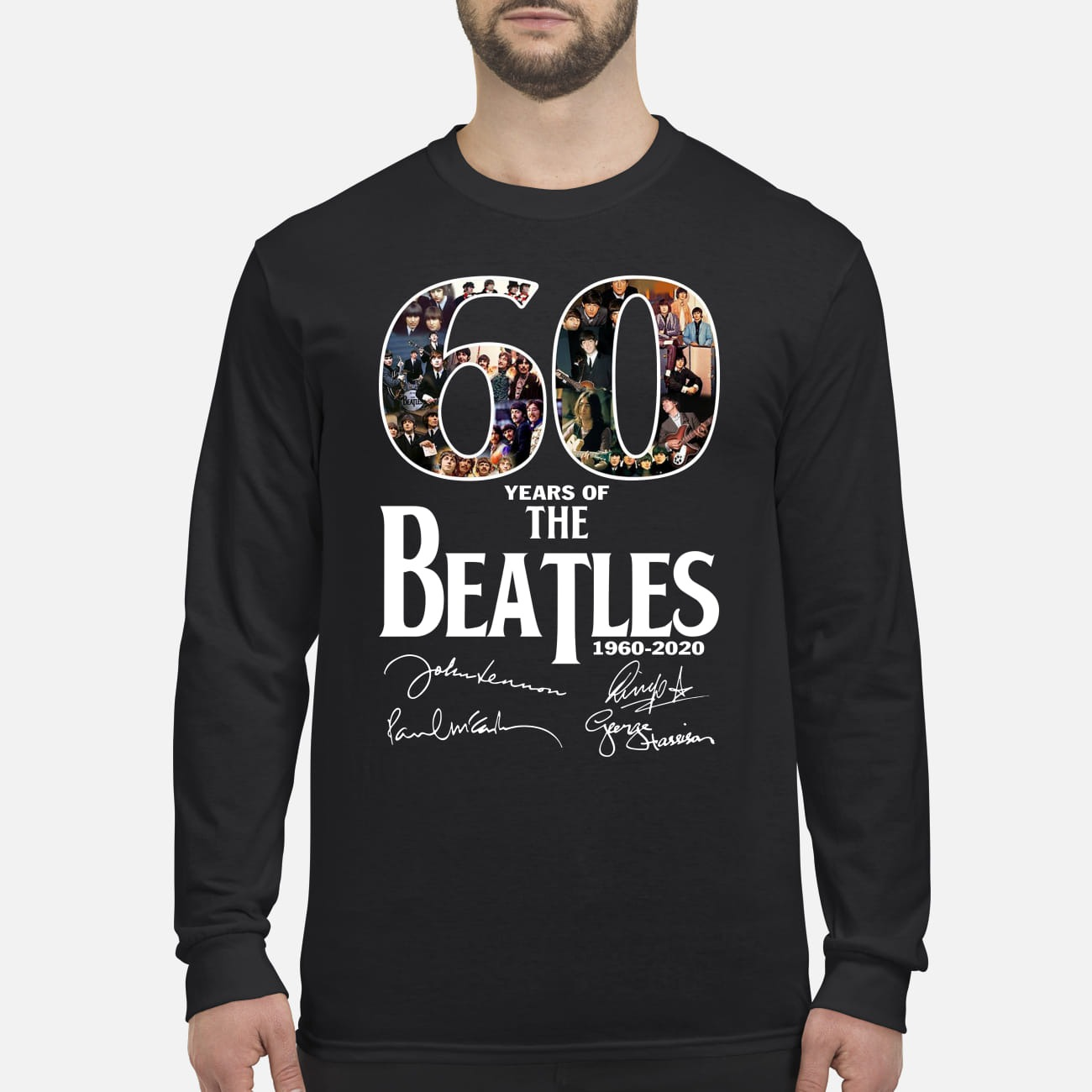The Beatles 60 years men's long sleeved shirt
