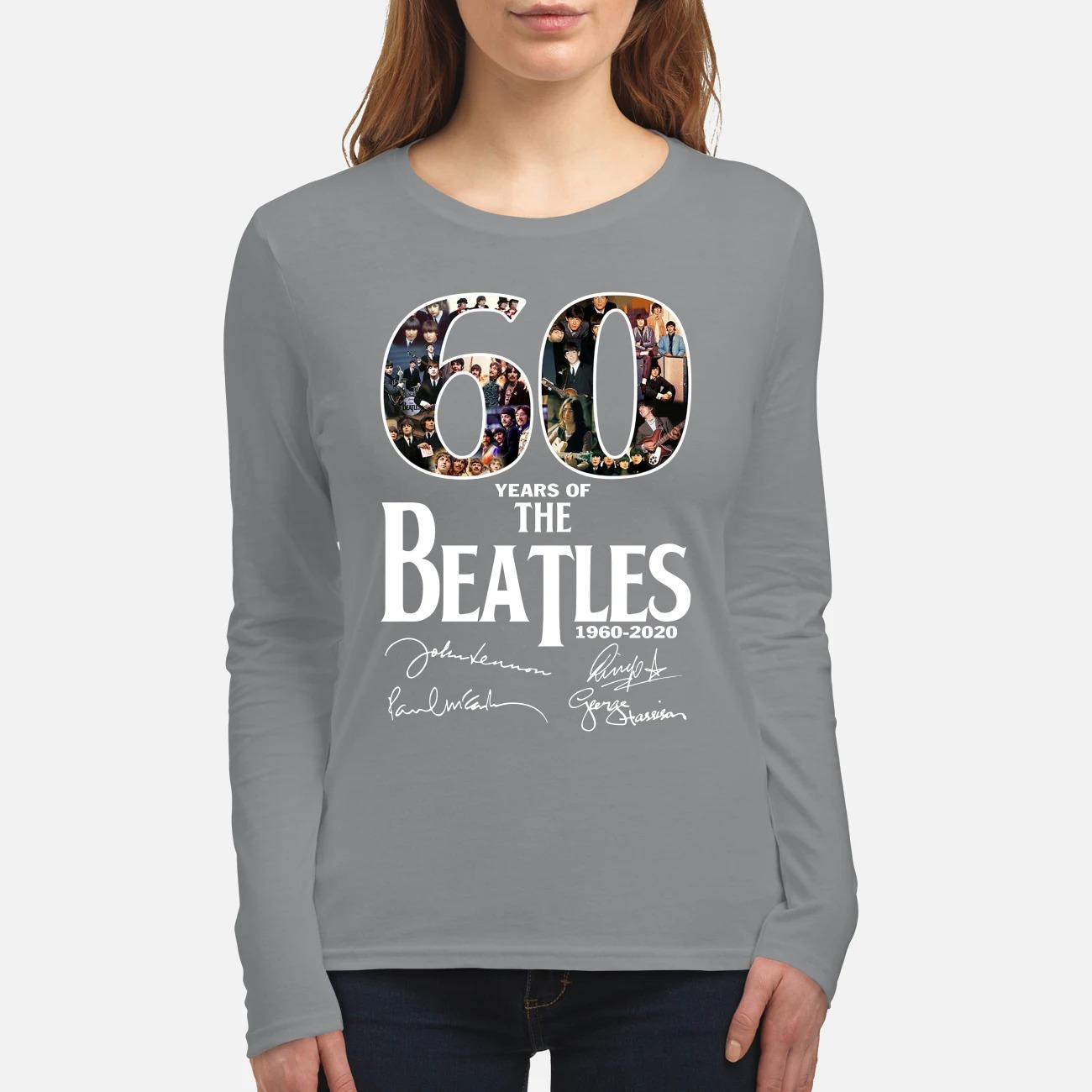 The Beatles 60 years women's long sleeved shirt