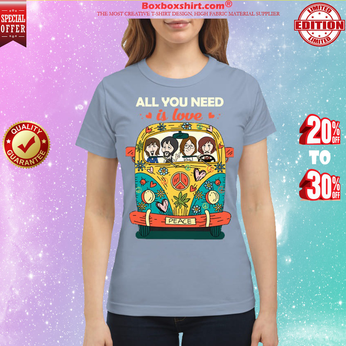 The Beatles chibi all you need is love shirt