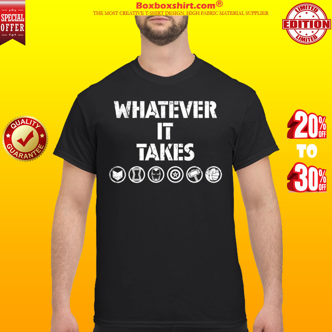What ever it takes Avengers Symbols shirt