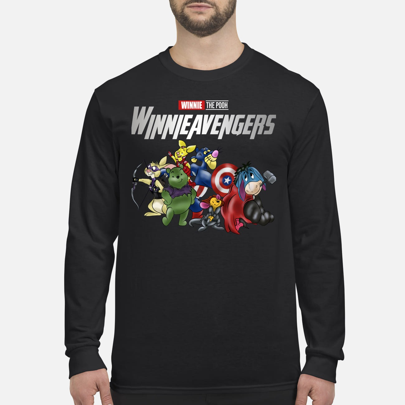 Winnie the pooh avenger winnieavengers men's long sleeved shirt