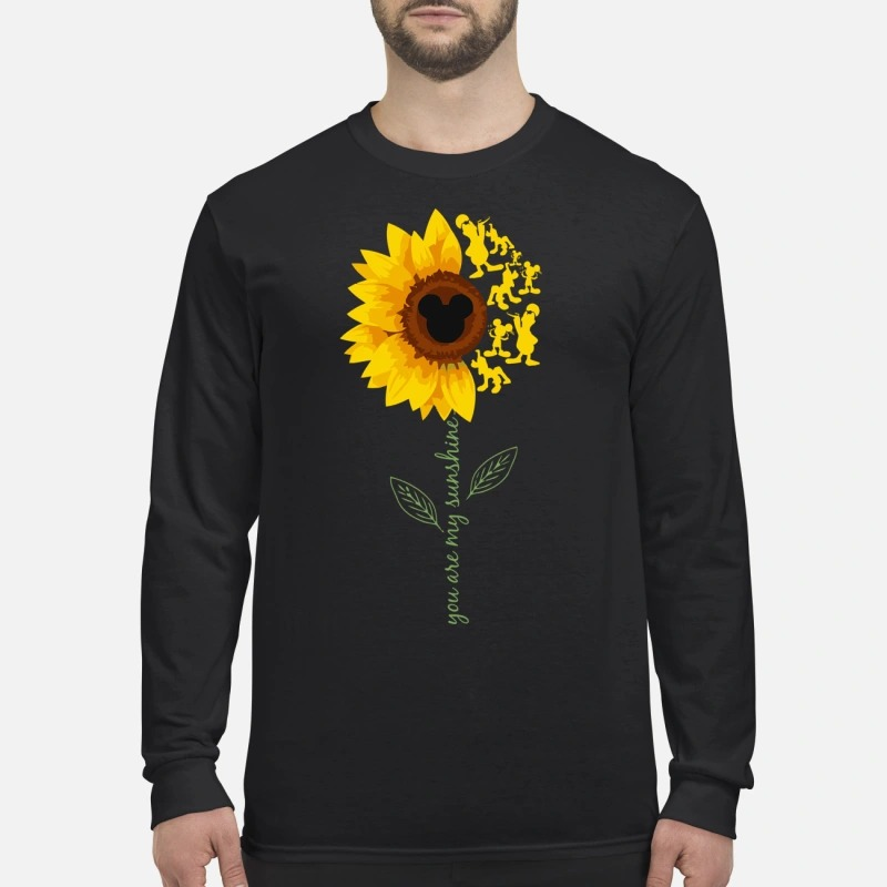 You are my sunshine mickey mouse men's long sleeved shirt