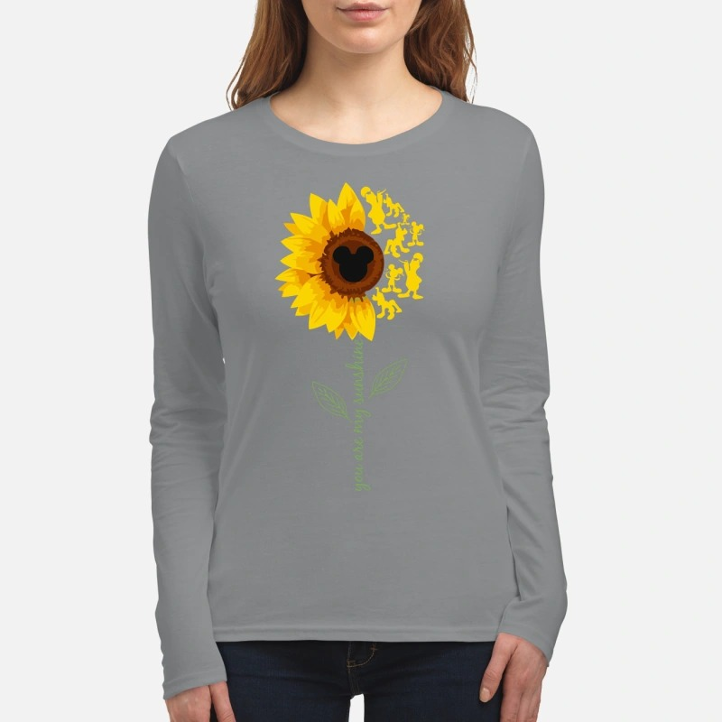 You are my sunshine mickey mouse women's long sleeved shirt