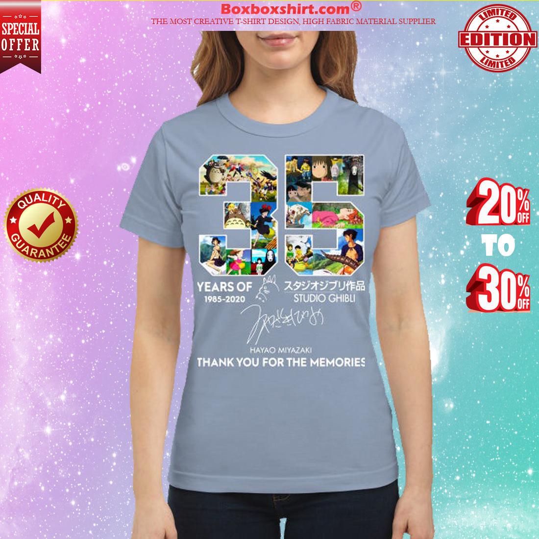 35 year of Studio Ghibli Hayao Miyazaki shirt
