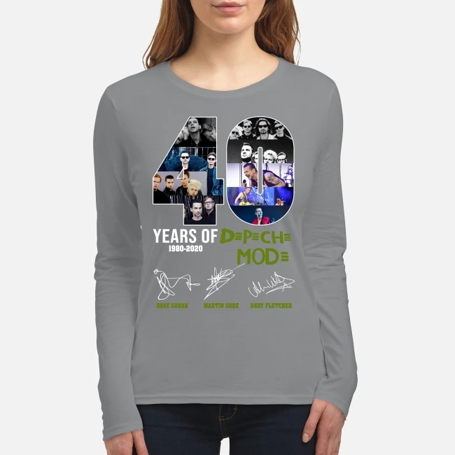 40 years of Depeche Mode Dave Gahan Martin Gore Andy Fletcher women's long sleeved shirt