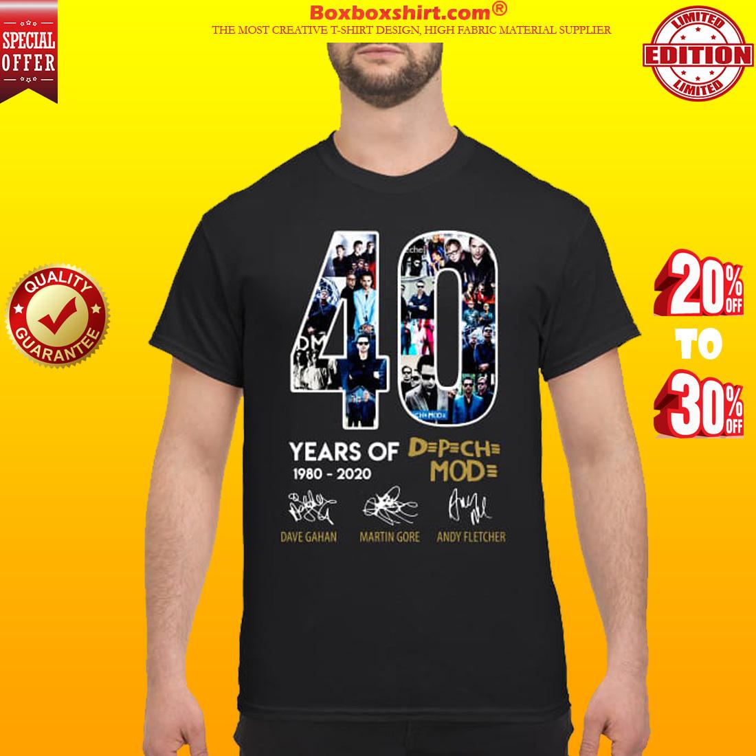40 years of Depeche Mode signatures shirt