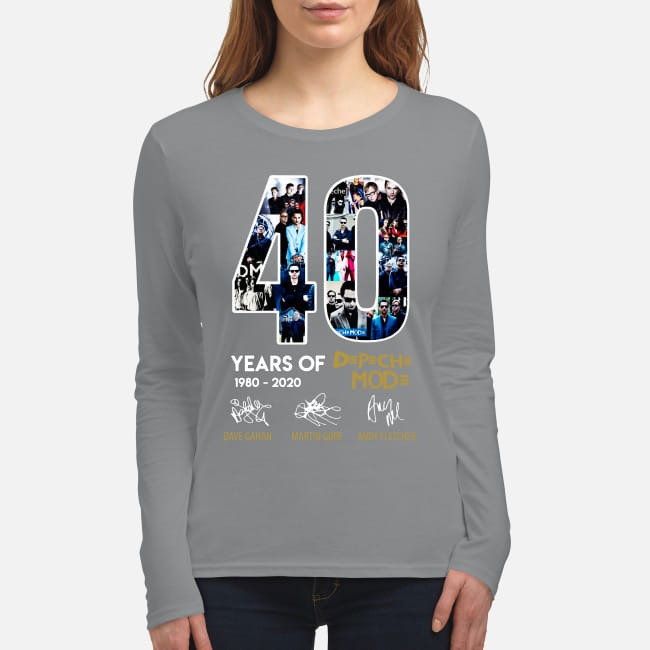40 years of Depeche Mode signatures women's long sleeved shirt