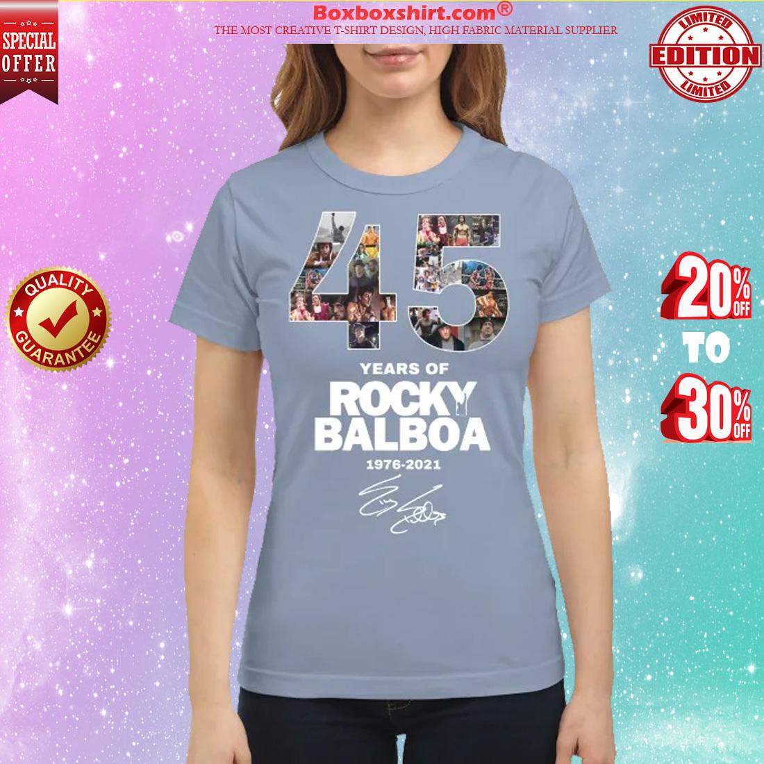 45 years of Rocky Balboa 1976 2021 shirt