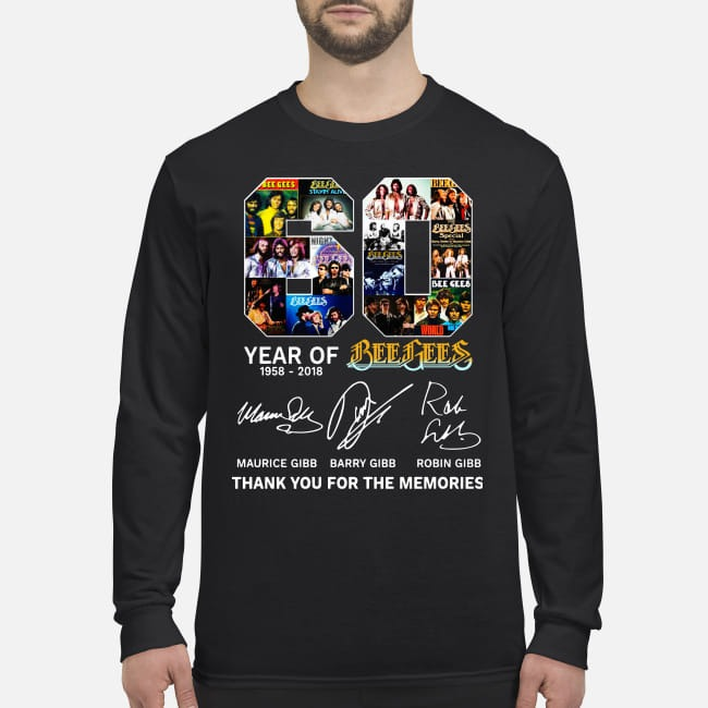 60 years of Bee Gees Thank you for the memories men's long sleeved shirt
