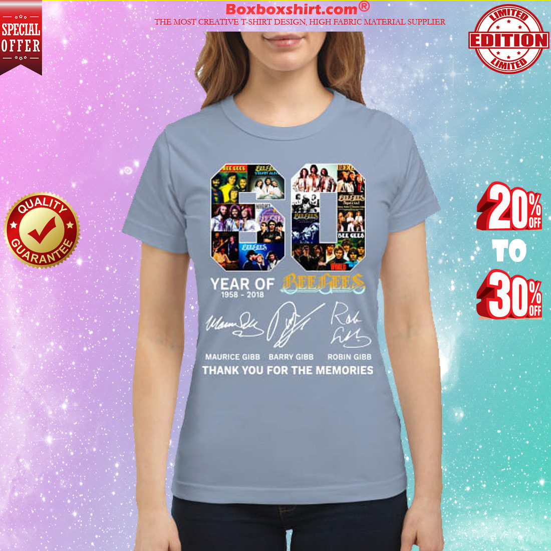 60 years of Bee Gees Thank you for the memories shirt