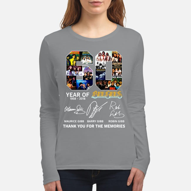 60 years of Bee Gees Thank you for the memories women's long sleeved shirt