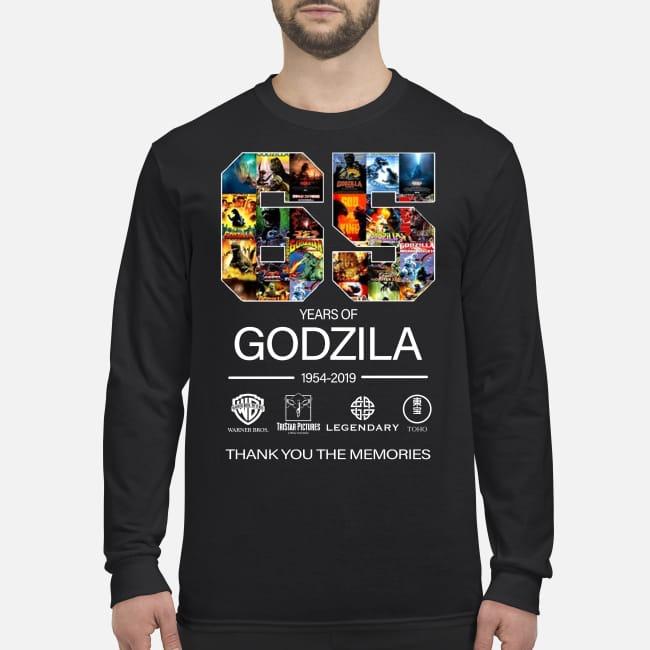 65 year of Godzila thank you the memories men's long sleeved shirt