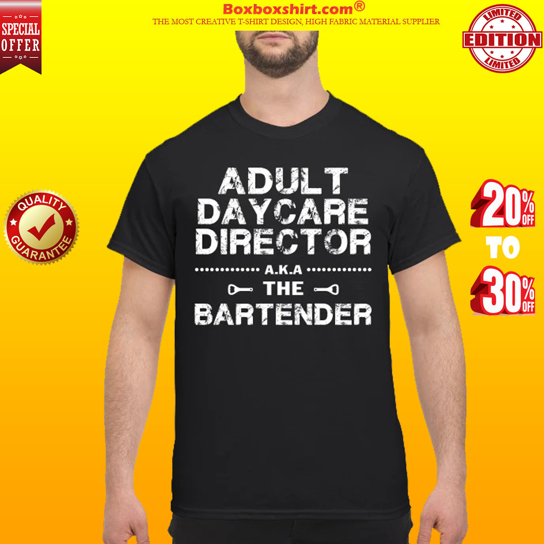 Adult daycare director the bartender classic shirt