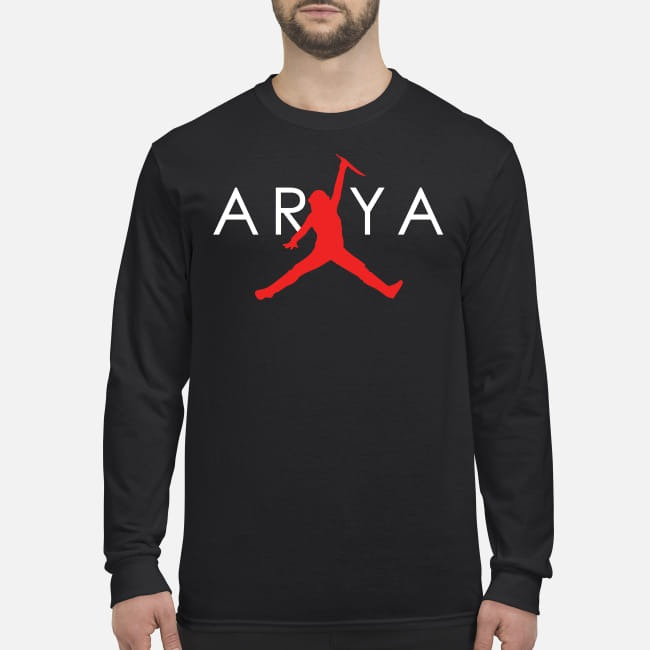 Arya Stark jordan jump men's long sleeved shirt