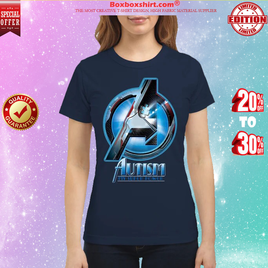 Avenger autism my super power classic shirt