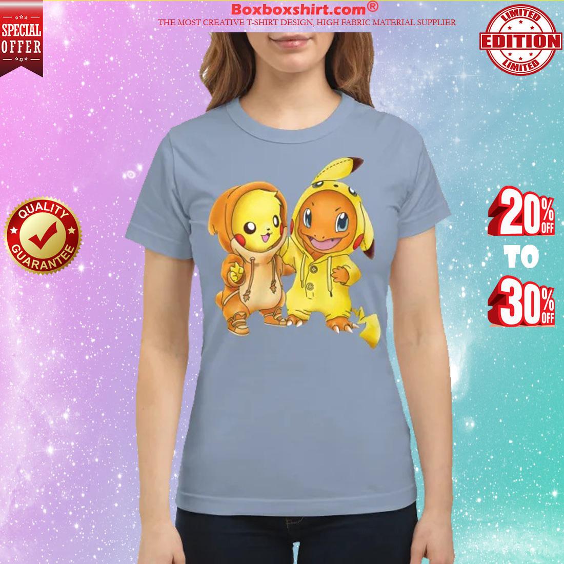 Baby pikachu hitokage charmander classic shirt