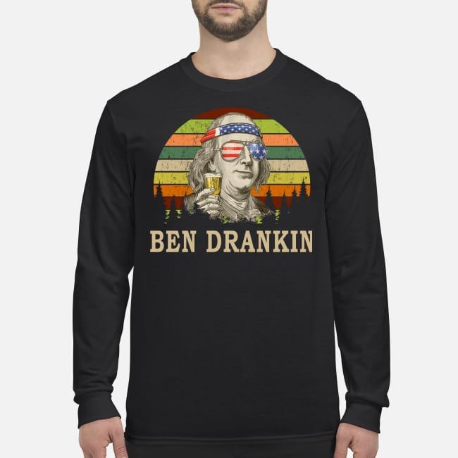 Benjamin Franklin Ben Drankin men's long sleeved shirt
