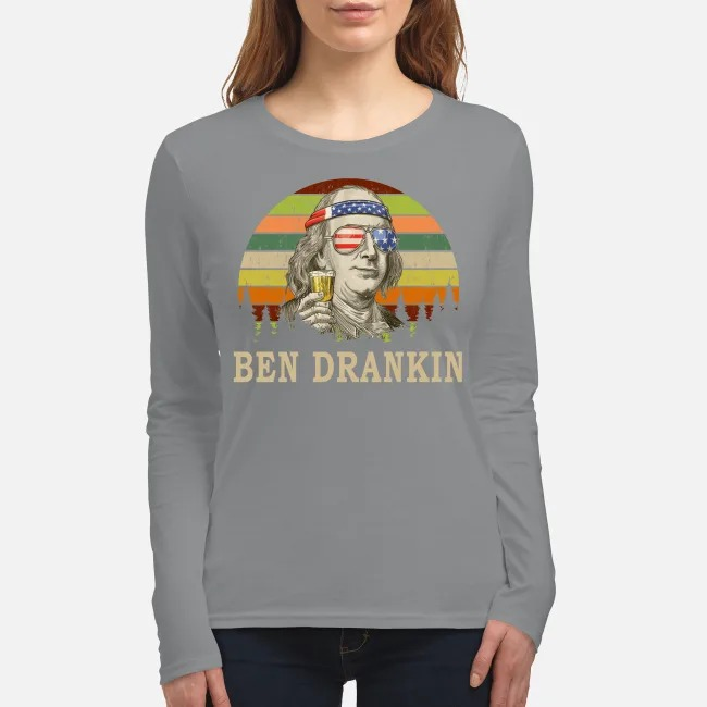 Benjamin Franklin Ben Drankin women's long sleeved shirt