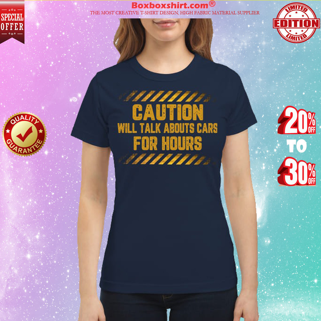 Caution will talk abouts cars for hours classic shirt