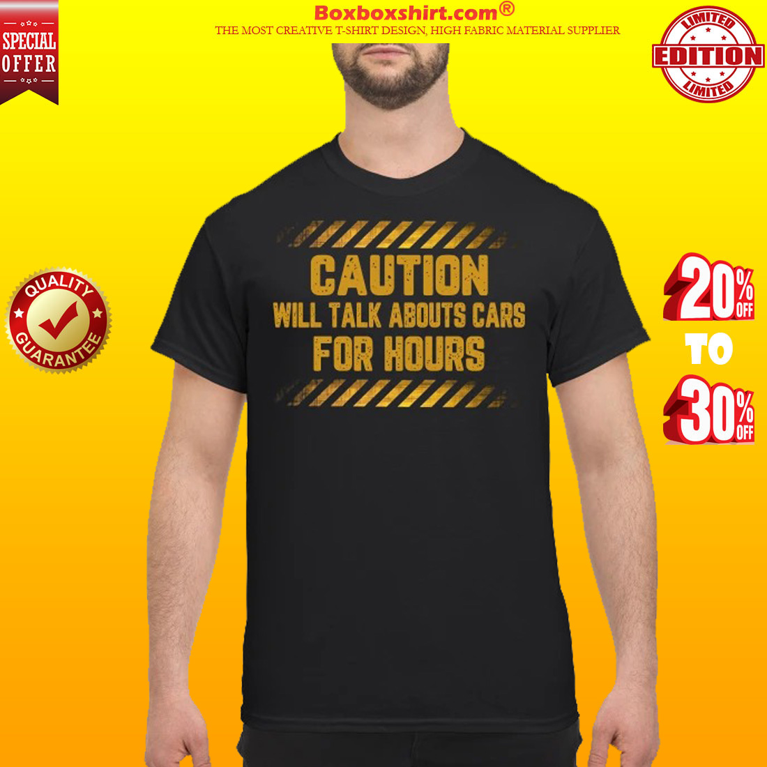 Caution will talk abouts cars for hours shirt