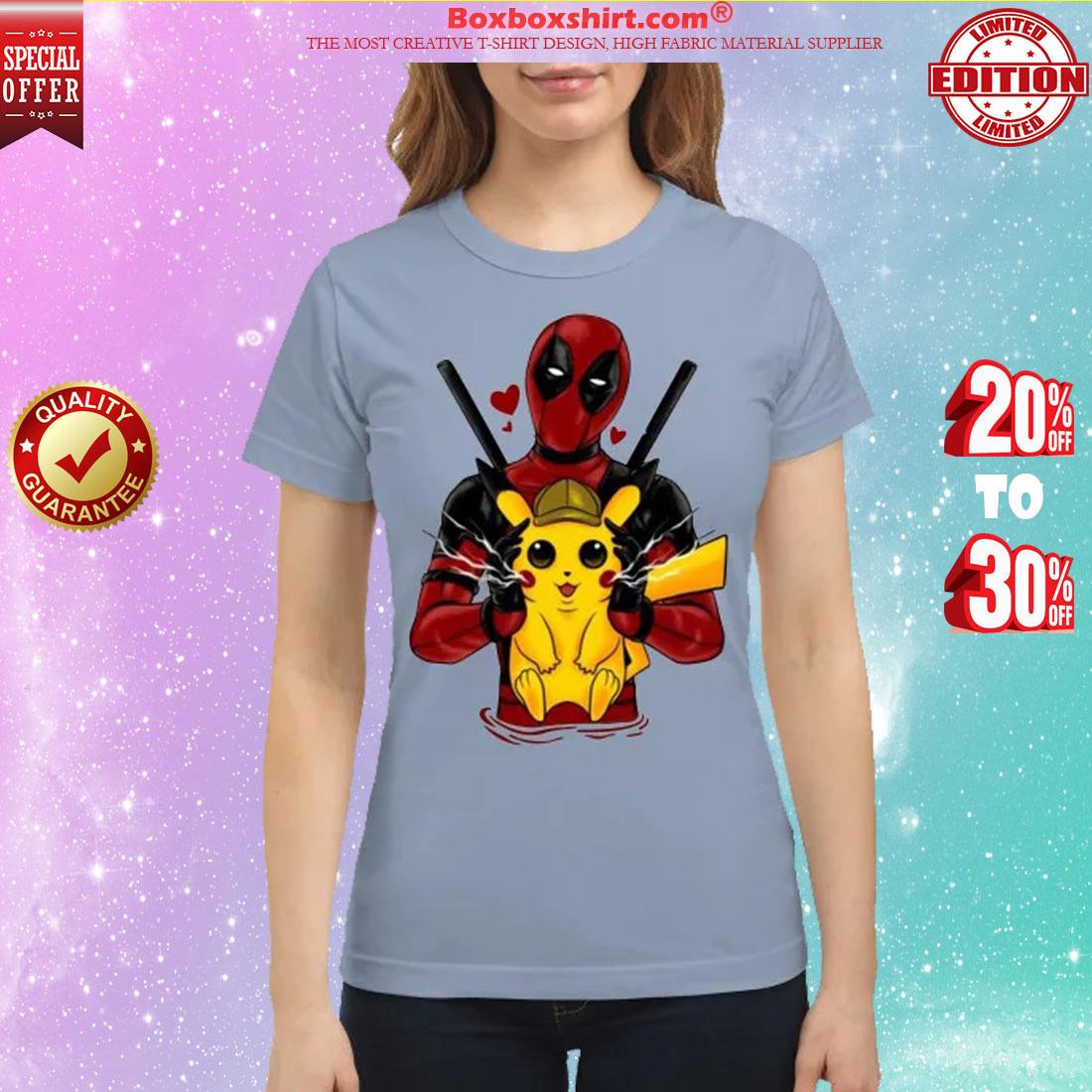 Deadpool hug pikachu classic shirt