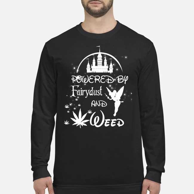 Disney Powered by Fairydust and weed men's long sleeved shirt