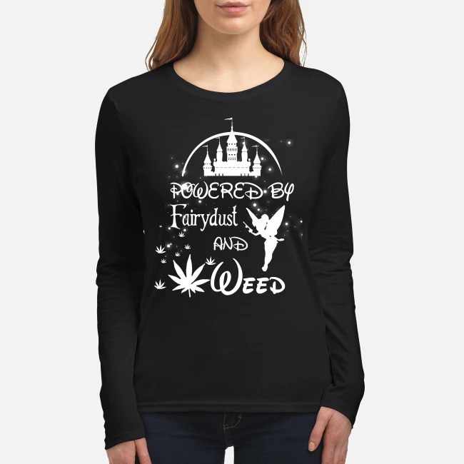 Disney Powered by Fairydust and weed women's long sleeved shirt
