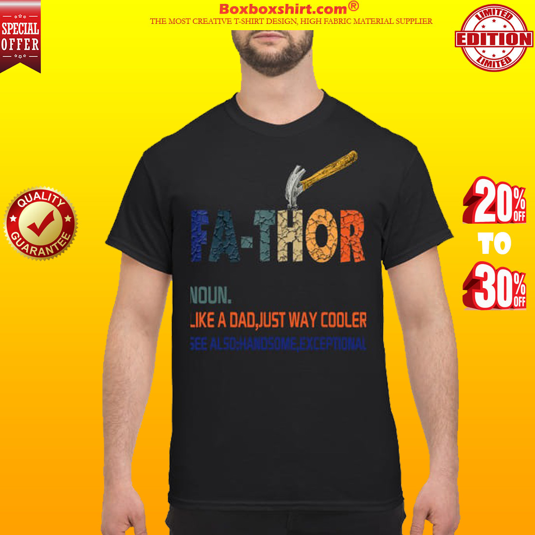 6f5797f1 Fa-thor hammer like a dad just way cooler handsome exceptional shirt