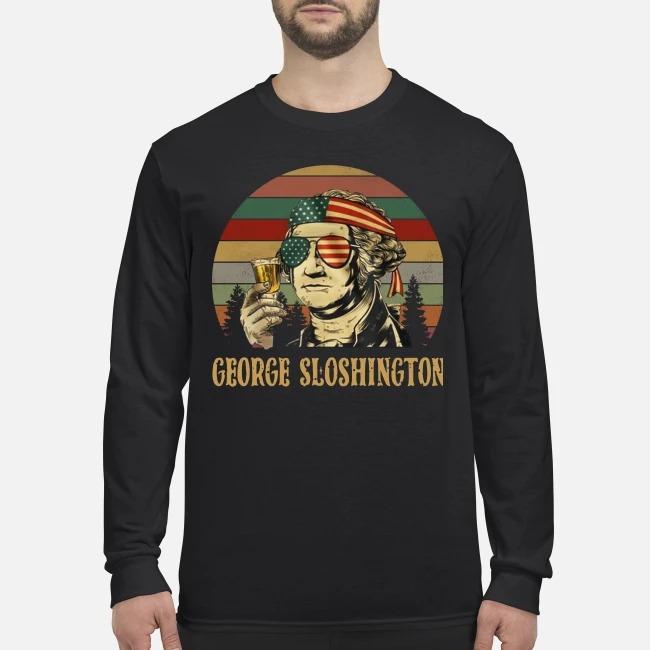 George sloshington men's long sleeved shirt