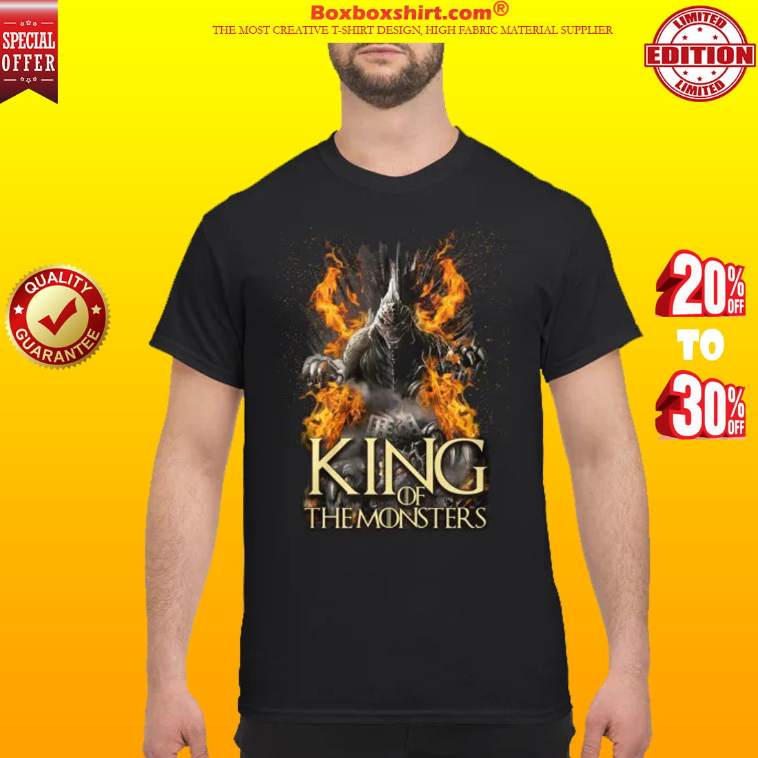 Godzilla king of the monsters classic shirt
