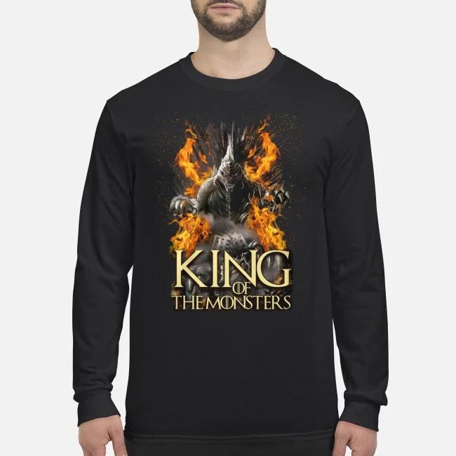 Godzilla king of the monsters men's long sleeved shirt
