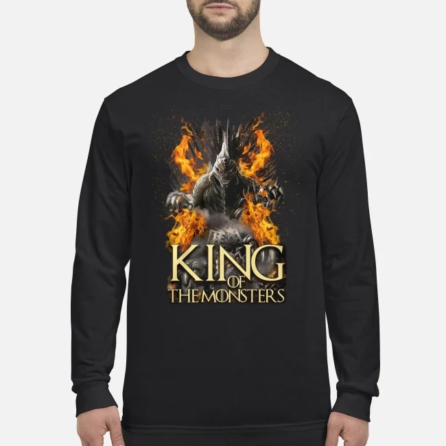 Godzilla king of the monsters men's long sleeved shirt