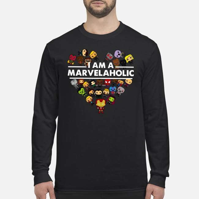 I am a Marvelaholic men's longt sleeved shirt