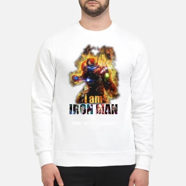I'm Iron man thank for the memories signatures mug and sweatshirt