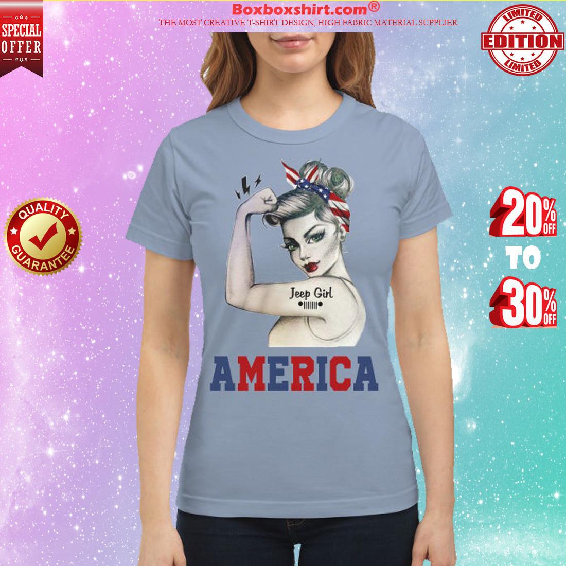 Jeep girl America classic shirt