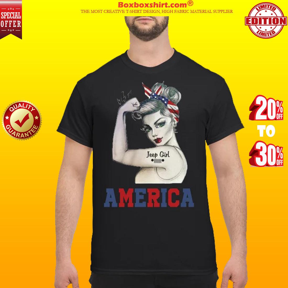Jeep girl America shirt