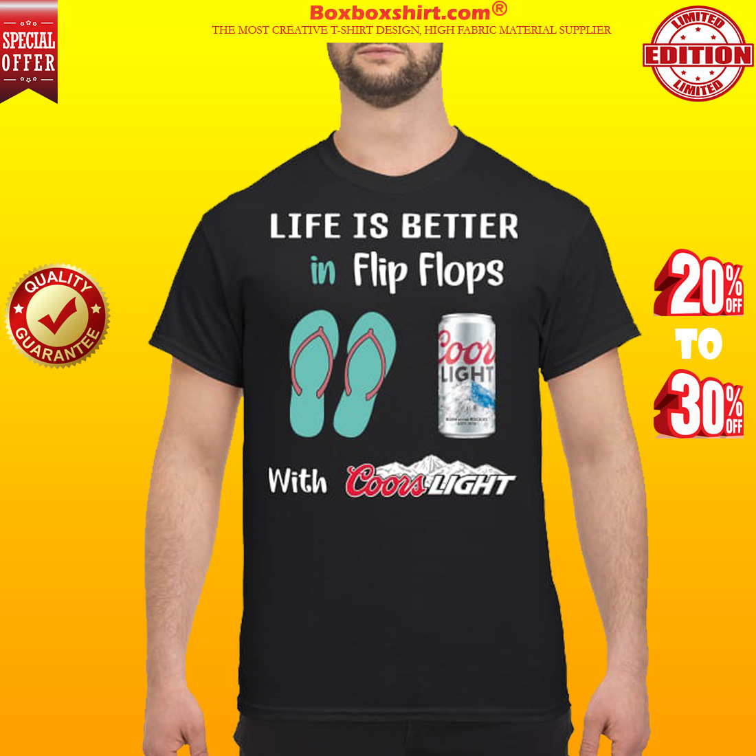 Life is better in flip flops with Coors light classic shirt