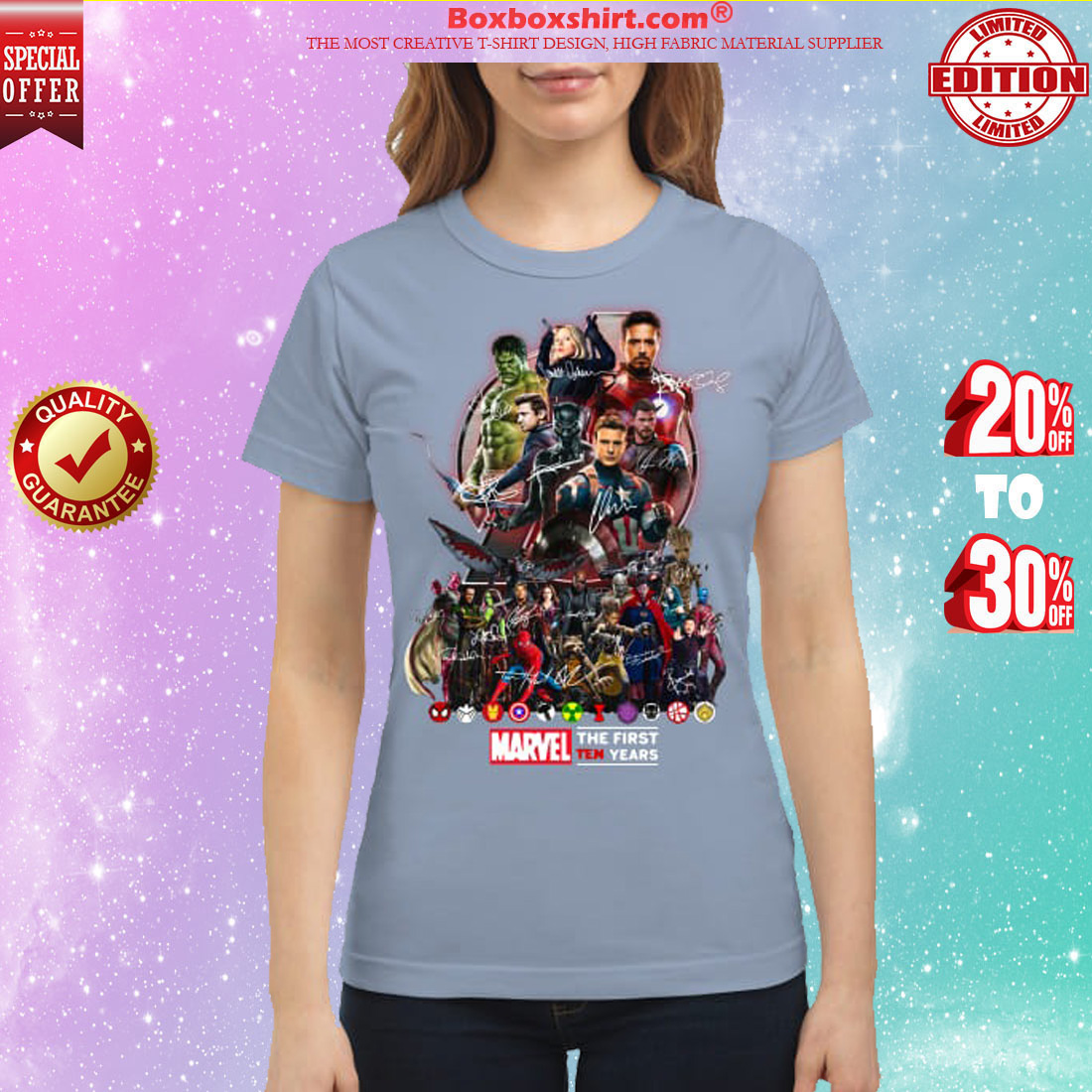 Marvel Avengers The first ten years classic shirt
