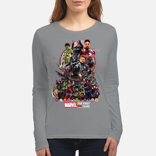 Marvel Avengers The first ten years women's long sleeved shirt