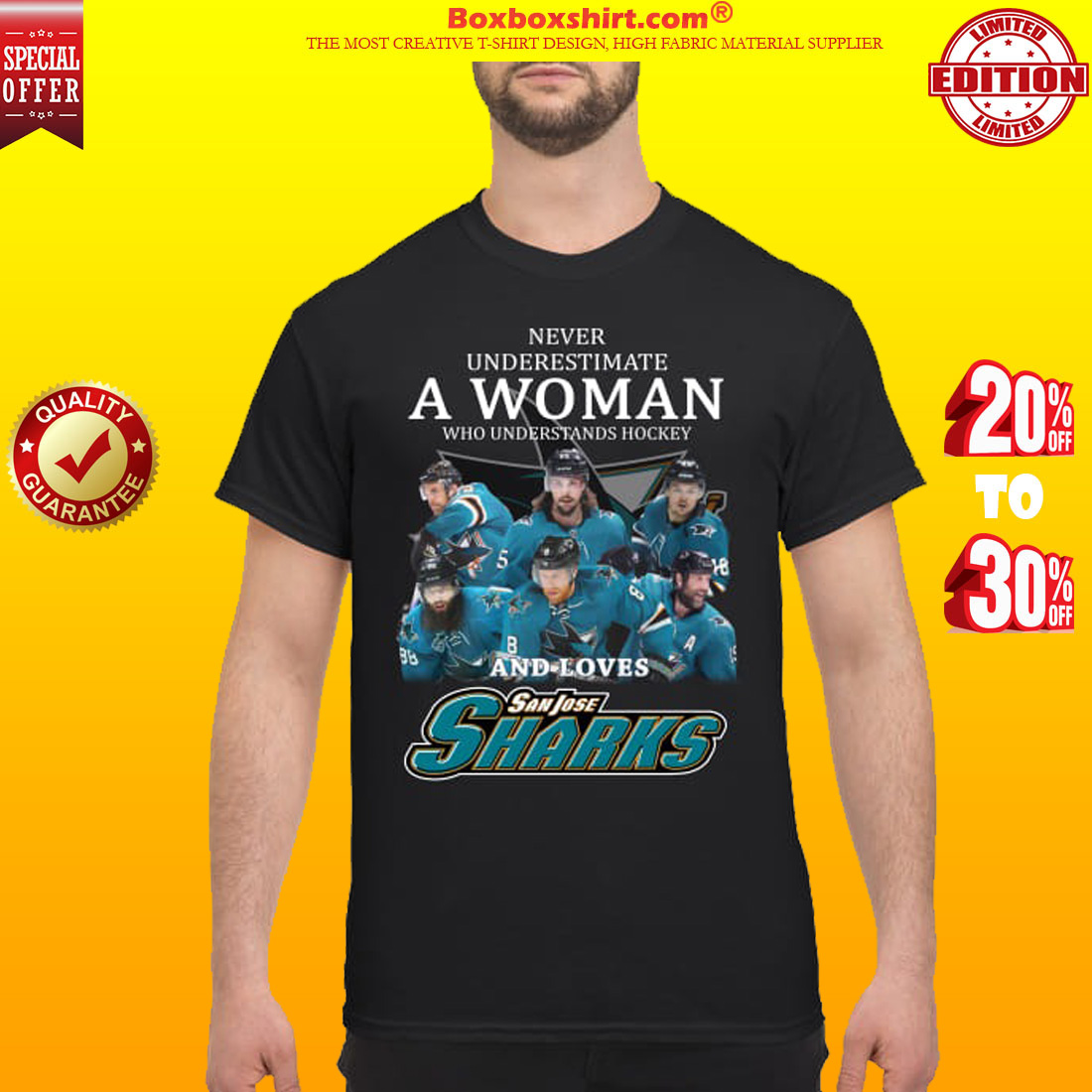 Never underestimate a woman who understands hockey and loves San Jose sharks classic shirt