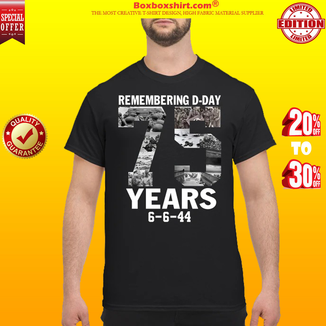 Remember d day 75 years shirt