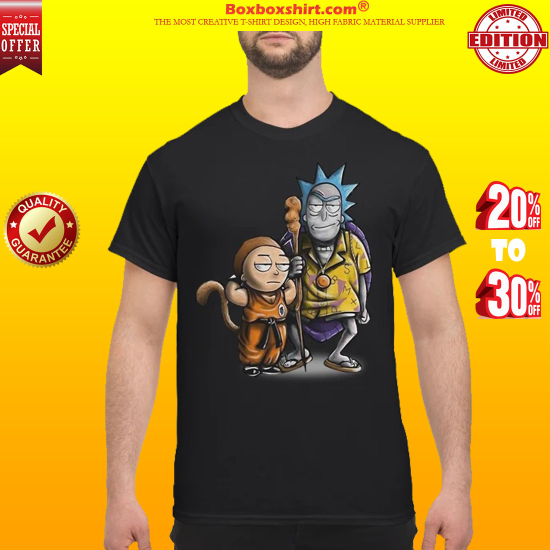 4049ad9b 10% OFF] Rick and Morty dragon ball shirt