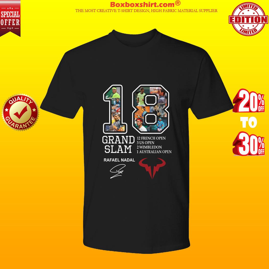 18 Grand slam Rafael Nadal signature shirt