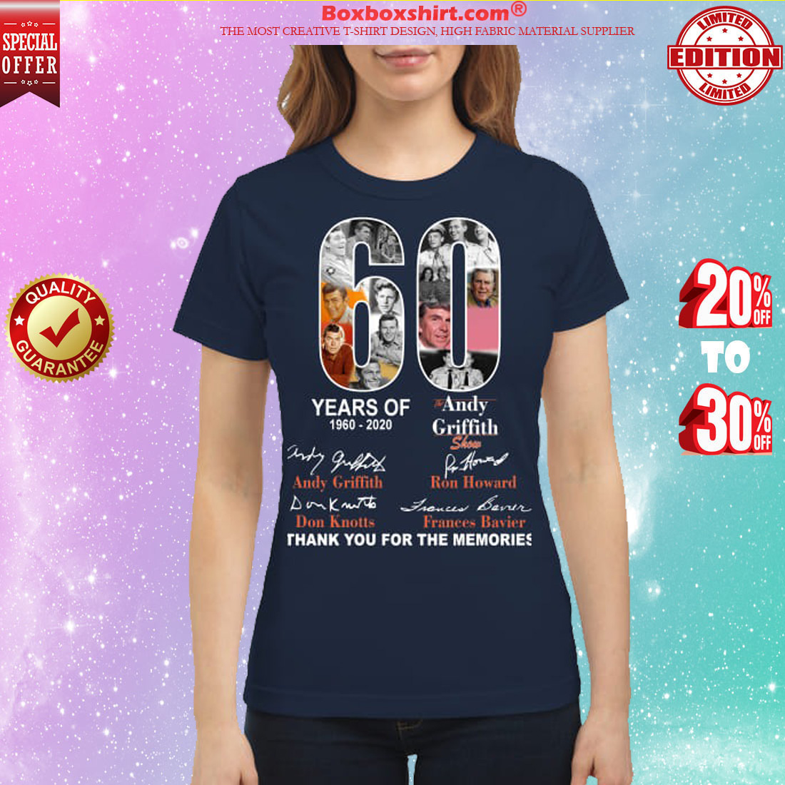 60 years of Andy Griffith classic shirt