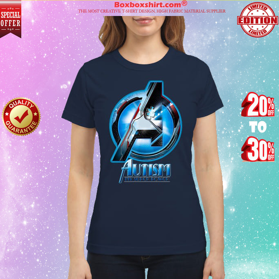 Avengers Autism awareness My superpower classic shirt