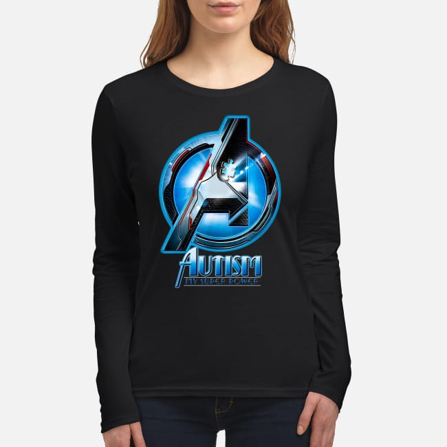 Avengers Autism awareness My superpower women's long sleeved shirt