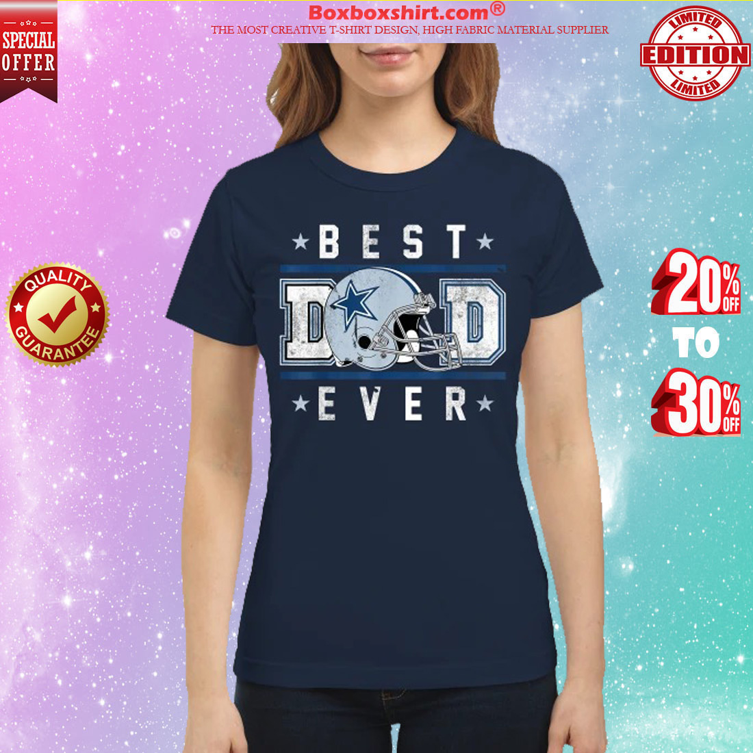 Best Dad Ever Football Dallas Cowboys classic shirt